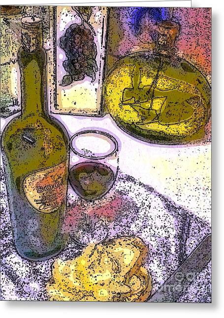 Sauvignon Digital Art Greeting Cards - Brunch 1 Greeting Card by Andooga Design