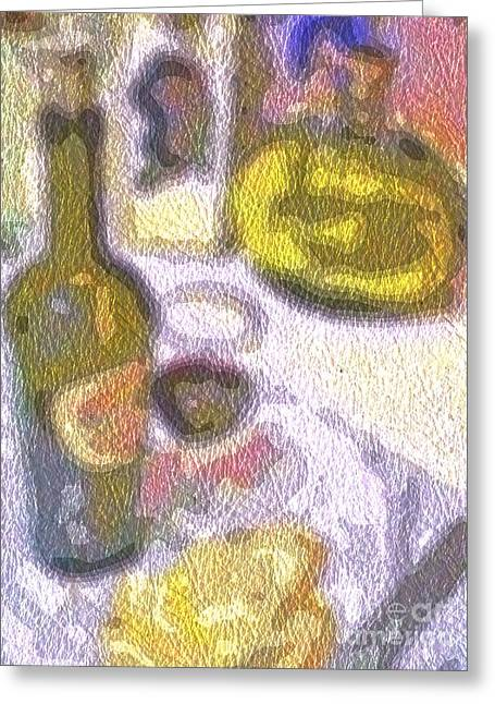 Sauvignon Digital Art Greeting Cards - Brunch 2 Greeting Card by Andooga Design