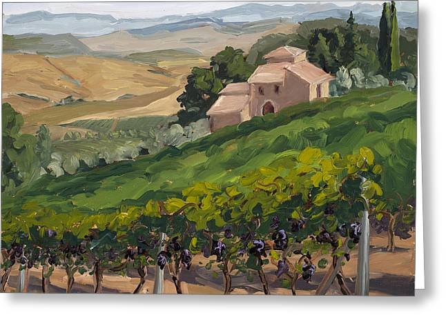 Brunello Greeting Cards - Brunello di Montalcino Greeting Card by Mary Giacomini