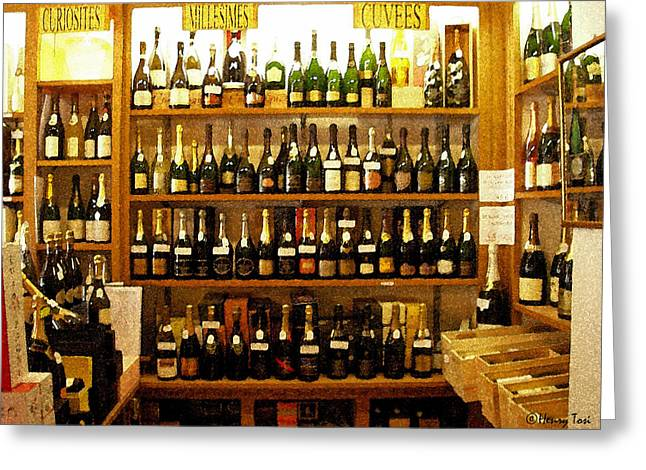 Brunello Greeting Cards - Brunello on the Shelf Greeting Card by Henry Tosi