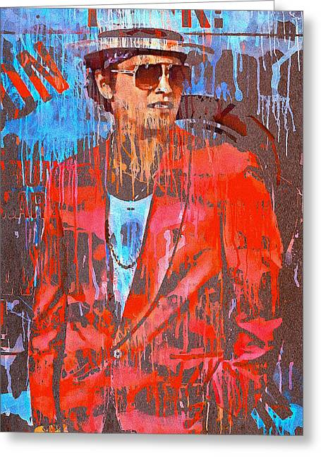 Live Music Digital Art Greeting Cards - Bruno Mars - Uptown Funk 7 Greeting Card by Yury Malkov