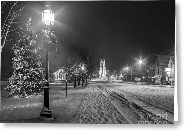 New England Winter Greeting Cards - Brunswick Maine Greeting Card by Benjamin Williamson