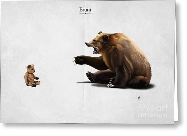 Toys Mixed Media Greeting Cards - Brunt Greeting Card by Rob Snow