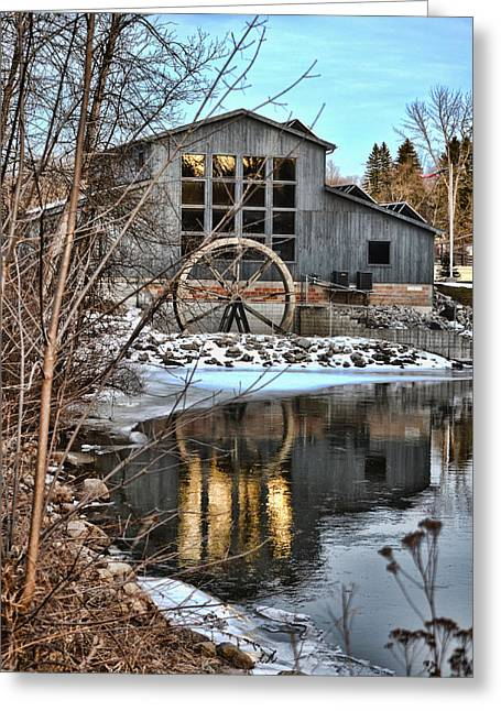 Hillman Greeting Cards - Brush Creek Mill in Winter Greeting Card by Rick Jackson