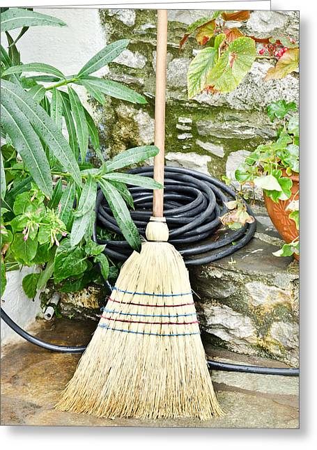 Sweeping Greeting Cards - Brush Greeting Card by Tom Gowanlock