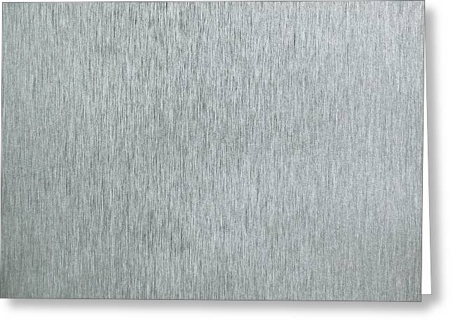 Industrial Background Greeting Cards - Brushed metal Greeting Card by Tom Gowanlock