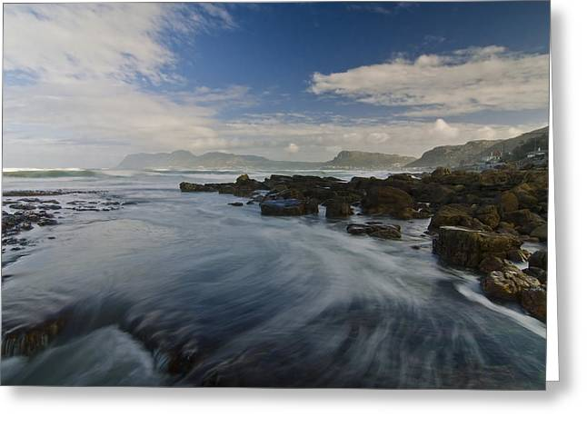 Cape Town Greeting Cards - Brushing the Blue Greeting Card by Aaron S Bedell