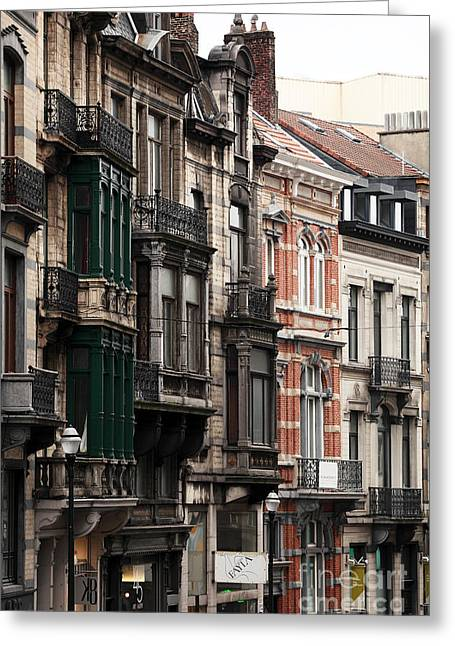 Union Square Greeting Cards - Brussels Architecture Greeting Card by John Rizzuto