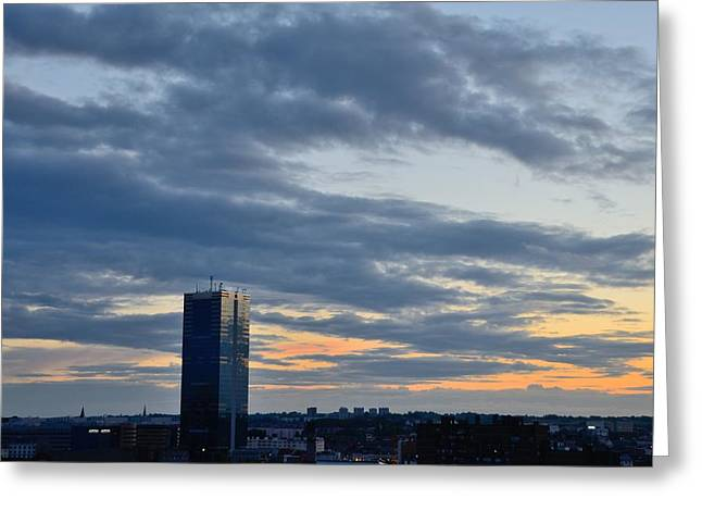Midi Greeting Cards - Brussels South Tower at Sunset Greeting Card by Steven Richman