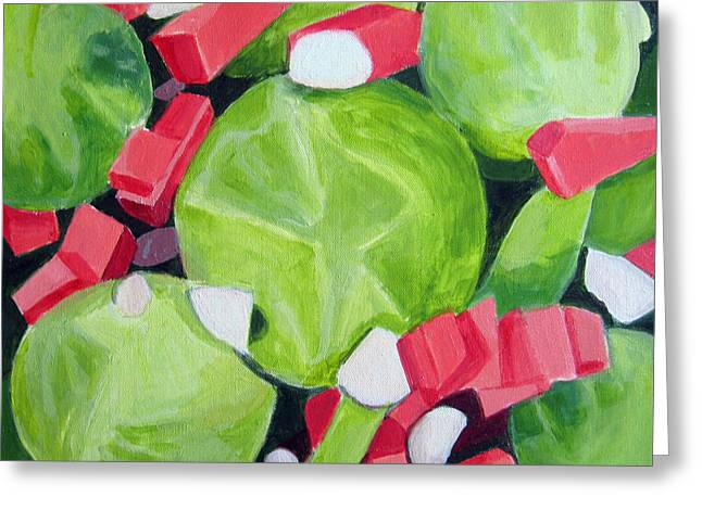 Seen Greeting Cards - Brussels Sprout Salad Greeting Card by Toni Silber-Delerive