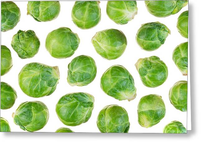 Cabbages Greeting Cards - Brussels Sprouts Greeting Card by Jim Hughes