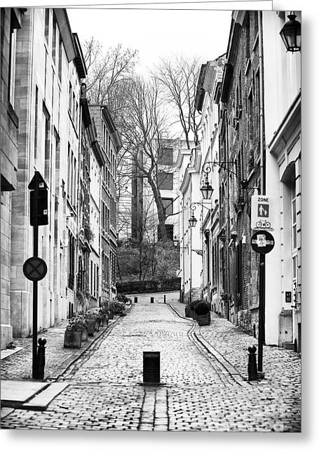Union Square Greeting Cards - Brussels Street Scene Greeting Card by John Rizzuto