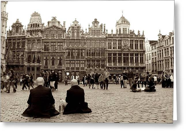 Brussel's Trance Greeting Card by Donato Iannuzzi