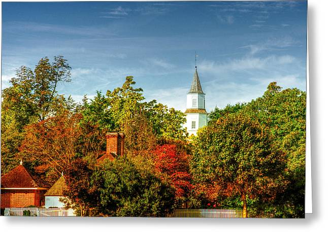 Recently Sold -  - Sienna Greeting Cards - Bruton Parrish Steeple Greeting Card by Richard Smith
