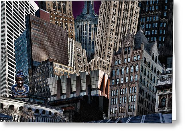 Bryant Park Collage Greeting Card by Chris Lord