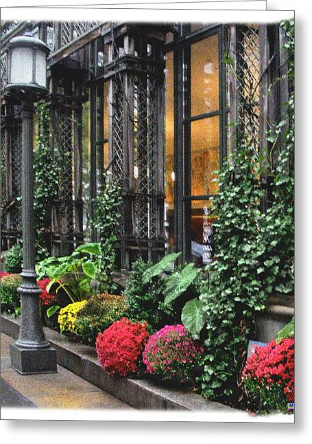 Bryant Greeting Cards - Bryant Park Grill Greeting Card by Muriel Levison Goodwin