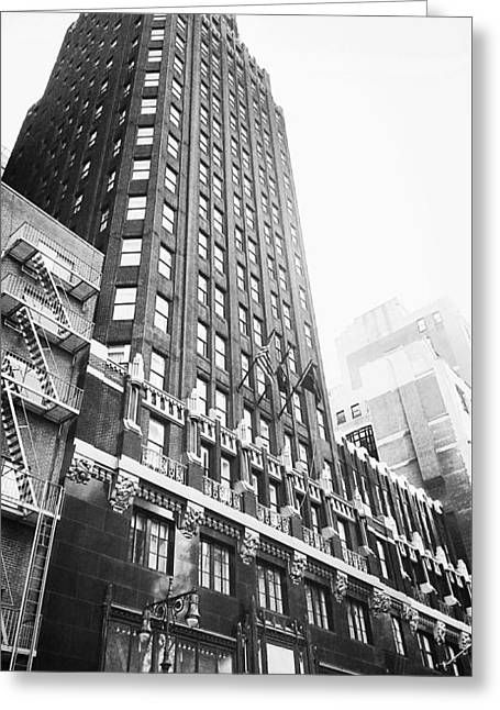 Bryant Park Hotel Greeting Card by Thomas Pascal