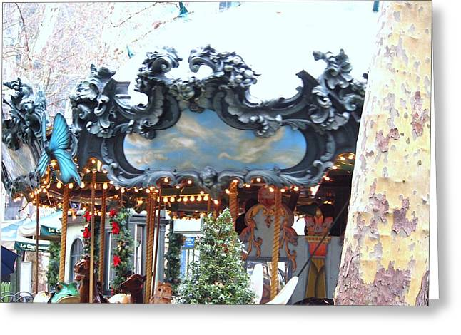 Bryant Park Greeting Card by Jennifer Craft