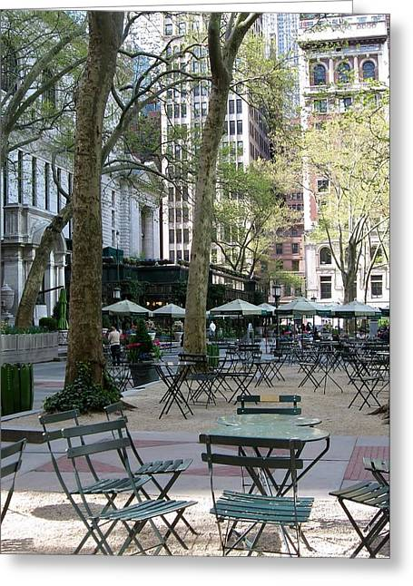 Recently Sold -  - Bryant Greeting Cards - Bryant Park Greeting Card by John Hintz