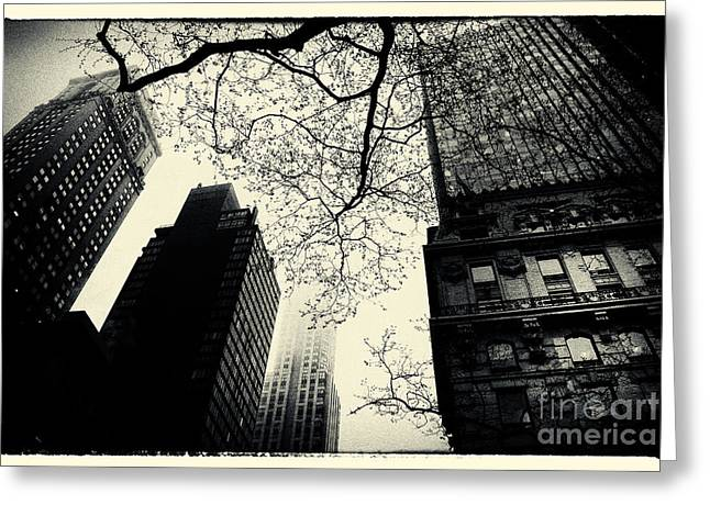 Nyc Greeting Cards - Bryant Park Skies New York City Greeting Card by Sabine Jacobs