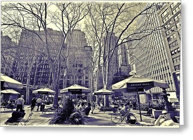 Recently Sold -  - Bryant Greeting Cards - Bryant Park Greeting Card by Tony Ambrosio