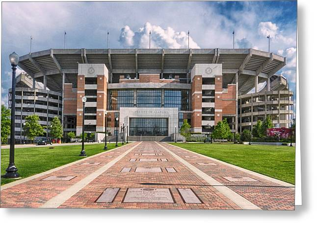 University Of Alabama Greeting Cards - Bryant Denny Stadium Greeting Card by Ben Shields