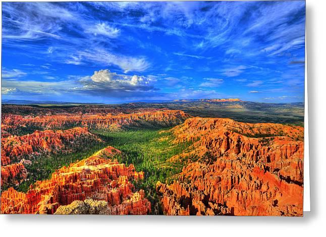 """bryce Canyon"" Greeting Cards - Bryce Canyon 2 Greeting Card by Midori Chan"