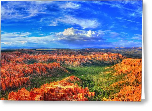 """bryce Canyon"" Greeting Cards - Bryce Canyon Greeting Card by Midori Chan"
