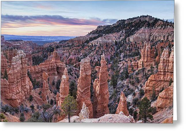 """""""bryce Canyon"""" Greeting Cards - Bryce Canyon Panorama Greeting Card by Colin and Linda McKie"""