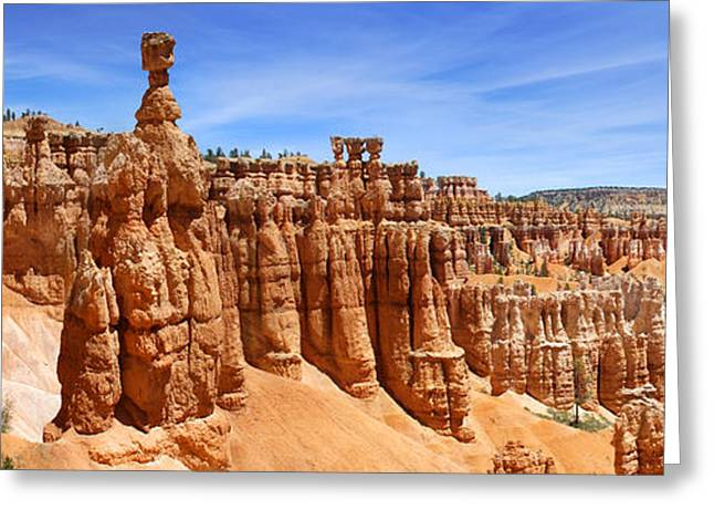 Mike Mcglothlen Photography Greeting Cards - Bryce Canyon Panoramic Greeting Card by Mike McGlothlen