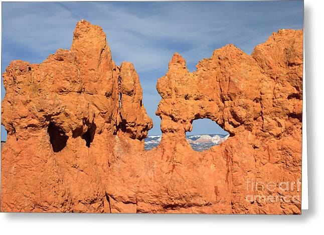 Peepholes Greeting Cards - Bryce Canyon Peephole Greeting Card by Karen Lee Ensley