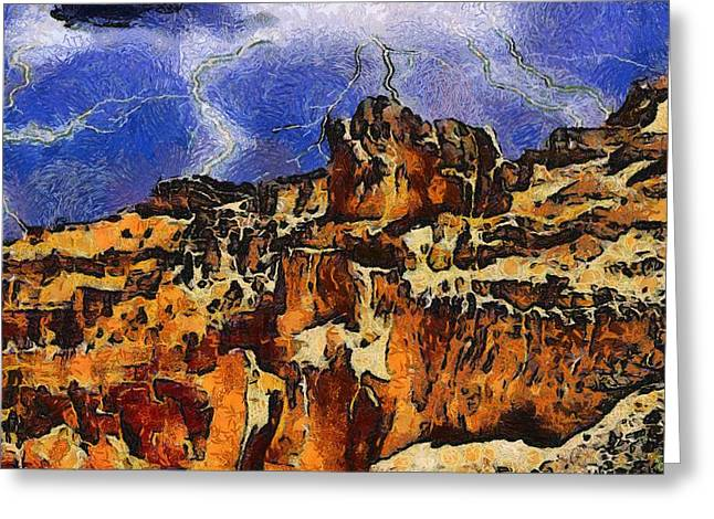 National Park Mixed Media Greeting Cards - Bryce Canyon Thuderstorm Greeting Card by Dan Sproul