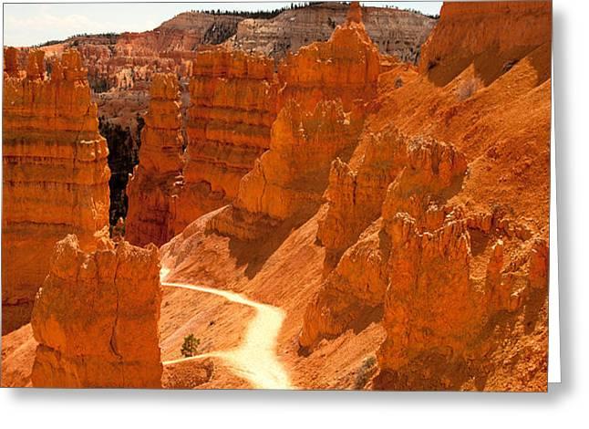 Bryce Canyon trail Greeting Card by Jane Rix