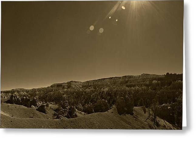 Mountain Valley Pyrography Greeting Cards - Bryce Canyon USA Greeting Card by Chris Hoffensetz