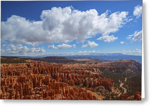 Colorful Cloud Formations Greeting Cards - Bryce Canyon View Greeting Card by Vishwanath Bhat