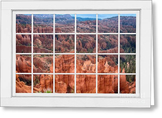Bryce Canyon White Picture Window View Greeting Card by James BO  Insogna