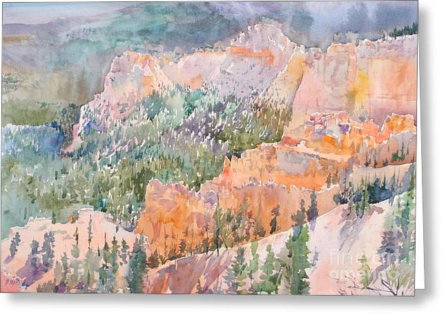 Park Scene Paintings Greeting Cards - Bryce Magic Greeting Card by Bernard Marks