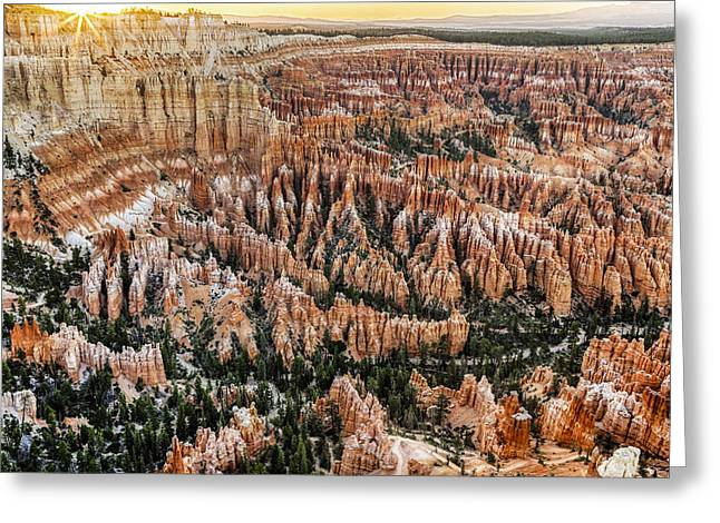Bryce Point Sunset Greeting Card by Harry H Hicklin