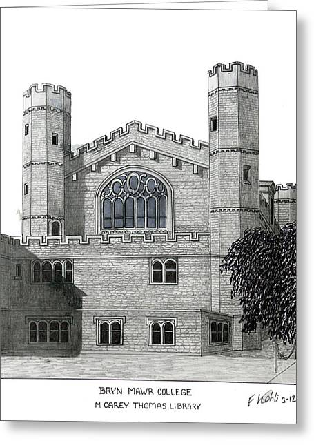 Artwork Greeting Cards - Bryn Mawr College Greeting Card by Frederic Kohli