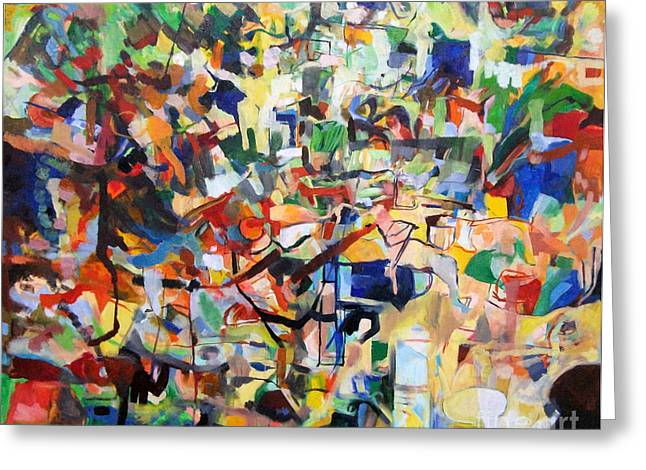 Inner Self Paintings Greeting Cards - Bseter Elyon 3 Greeting Card by David Baruch Wolk
