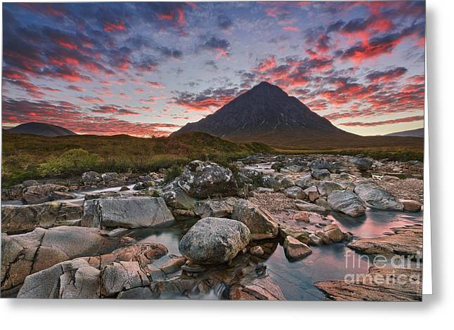 Rannoch Moor Greeting Cards - Buachaille Etive Mor  Greeting Card by Rod McLean