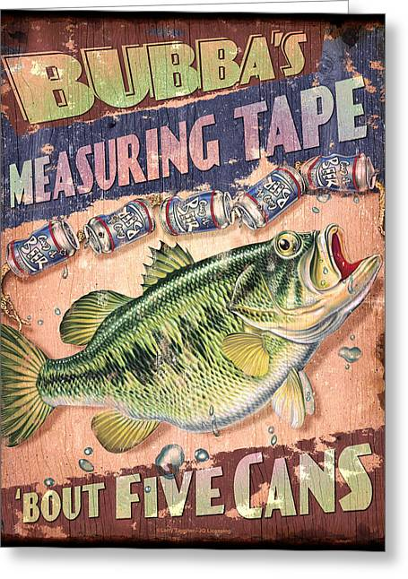 Liquor Greeting Cards - Bubba Measuring Tape Greeting Card by JQ Licensing