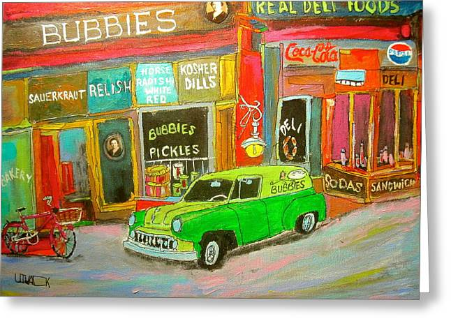 Michael Litvack Greeting Cards - Bubbies Special Delivery Greeting Card by Michael Litvack