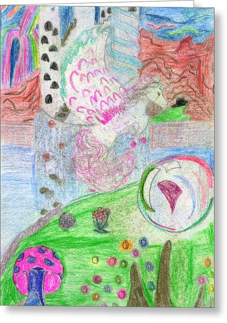 Fantasy World Drawings Greeting Cards - Bubble Cove Greeting Card by Kd Neeley