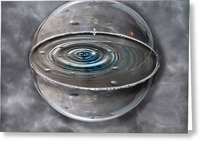 Water Effect Greeting Cards - Bubble Sphere Greeting Card by Betsy C  Knapp