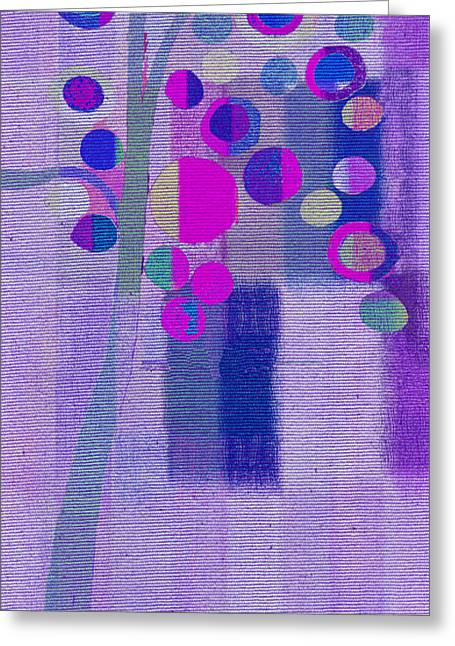 Purple Abstract Paintings Greeting Cards - Bubble Tree - s85lc03 Greeting Card by Variance Collections