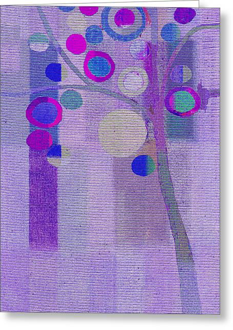 Purple Abstract Paintings Greeting Cards - Bubble Tree - s85rc03 Greeting Card by Variance Collections