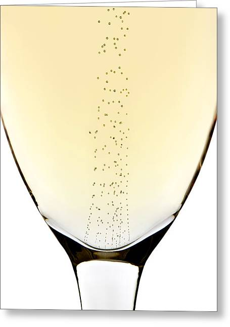 Up Close Greeting Cards - Bubbles in champagne Greeting Card by Johan Swanepoel