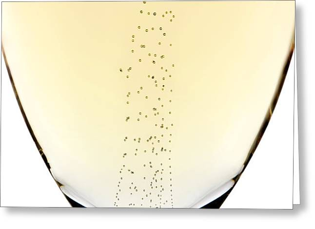 Bubbles in champagne Greeting Card by Johan Swanepoel