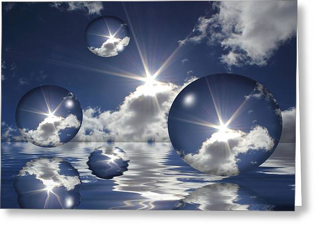 Hovering Greeting Cards - Bubbles In The Sun Greeting Card by Shane Bechler